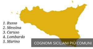 I cognomi siciliani più diffusi